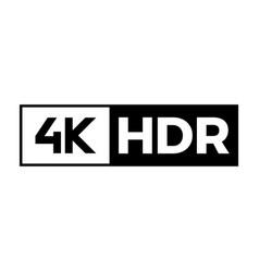 4k ultra hd symbol vector