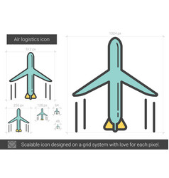 Air logistic line icon vector