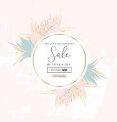autumn foliage collection gold blush chic vector image