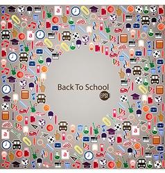 Back to School Seamless children background vector