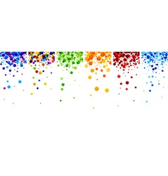 Backgrounds set with color drops vector image vector image
