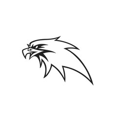 black and white eagle head logo design vector image