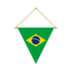 brazilian triangle flag hanging vector image