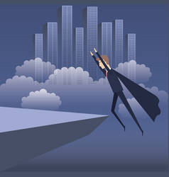 business plan growth with businessman avatar vector image