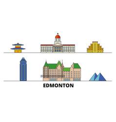 canada edmonton flat landmarks vector image