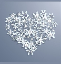christmas abstract background with a heart from vector image