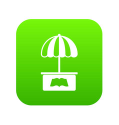 city stall icon green vector image