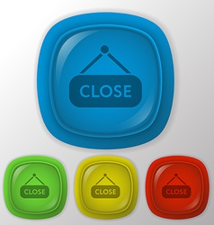 close label sign vector image