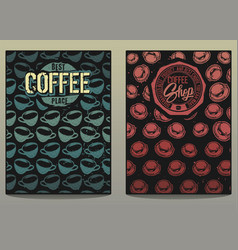 Coffee shop posters 1 vector