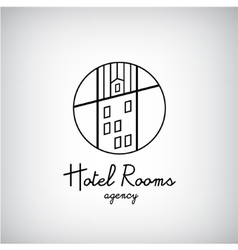 Creative concept symbol for hotel hostel travel vector