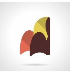 Curved soft chair flat color design icon vector