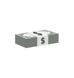 dollar banknotes stack currency symbol vector image