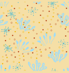 doodle seamless pattern endless repeated vector image