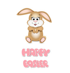 easter bunny peeking out from the bottom edge of vector image vector image