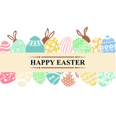 easter greeting banner vector image