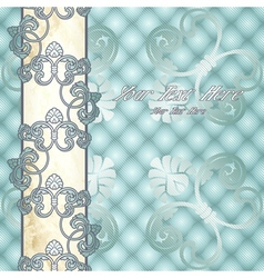 Elegant pale blue rococo background vector