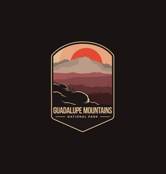 emblem logo guadalupe mountains national park vector image