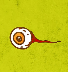 Eyeball Cartoon vector image