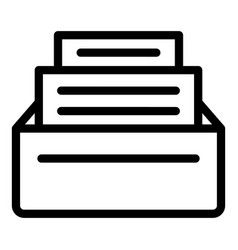 Files request icon outline style vector