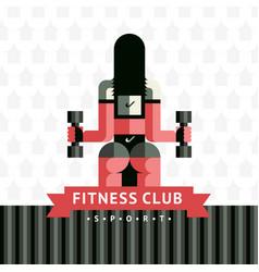Fitness sticker logo vector