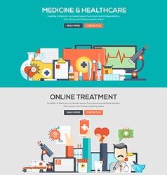 Flat design concept banner Medical vector image