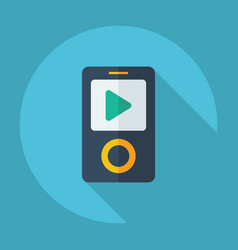 Flat modern design with shadow mp4 player play vector