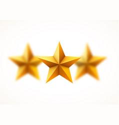 golden stars background blurred beautiful golden vector image