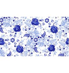 gzhel pattern vector image