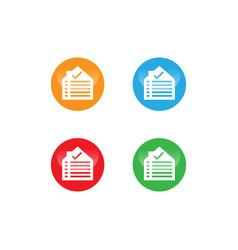Home list logo design template vector