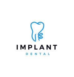 Implant dental logo icon vector