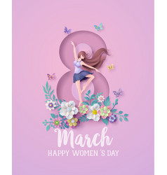 International womens day 8 march with frame vector