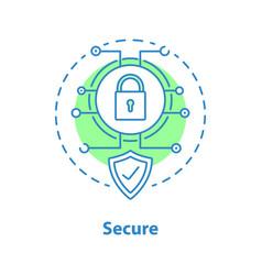 internet security concept icon vector image