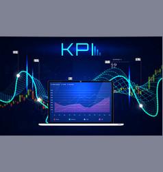 kpi key performance indicators vector image