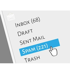 Mail box menu vector