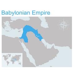 Map babylonian empire vector