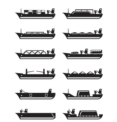Merchant and cargo ships vector