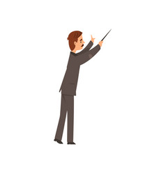 Music orchestra conductor on a vector