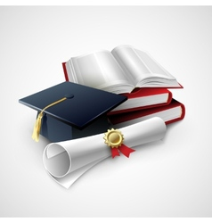 Objects for graduation ceremony vector