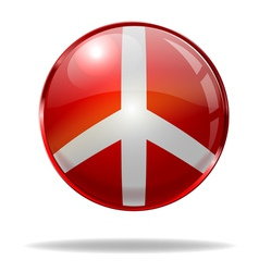 peace button vector image