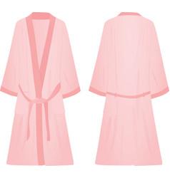 Pink bathrobe vector