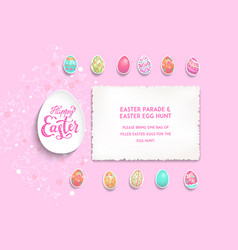 pink template poster eggs vector image
