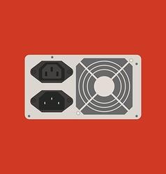 Power supply icon vector image