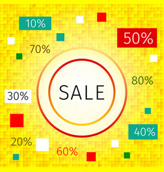 promotional discount sale background vector image
