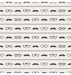 seamless pattern of glasses and mustache vector image