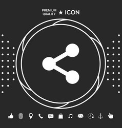 share icon symbol graphic elements for your vector image