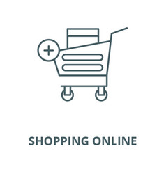 shopping online line icon linear concept vector image
