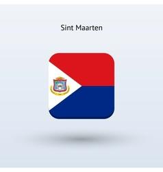 Sint Maarten flag icon vector