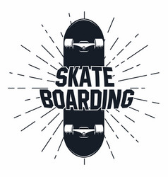 Skateboarding t shirt graphic urban skating vector