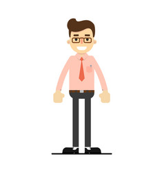 smiling manager character in flat design vector image