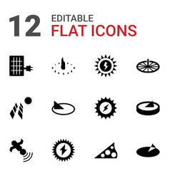Solar icons vector